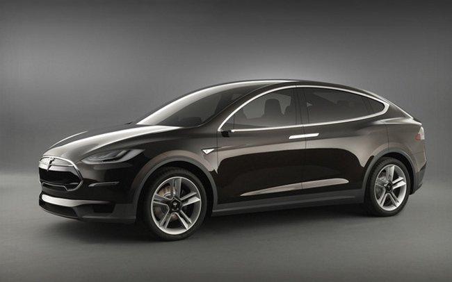 Tesla Model X (tres cuartos delantera)