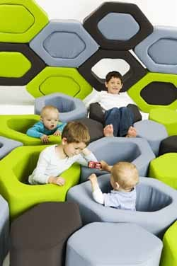 Honeycubes: bloques flexibles para jugar y decorar