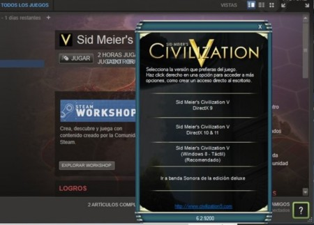 civilization V en Surface Pro
