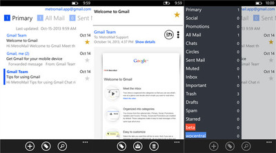 MetroMail, un completo cliente de Gmail para Windows Phone 8