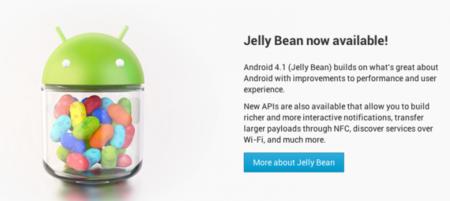 Ya está disponible el SDK de Android 4.1 Jelly Bean presentado en Google IO 2012