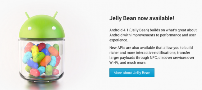 SDK Android 4.1 Jelly Bean