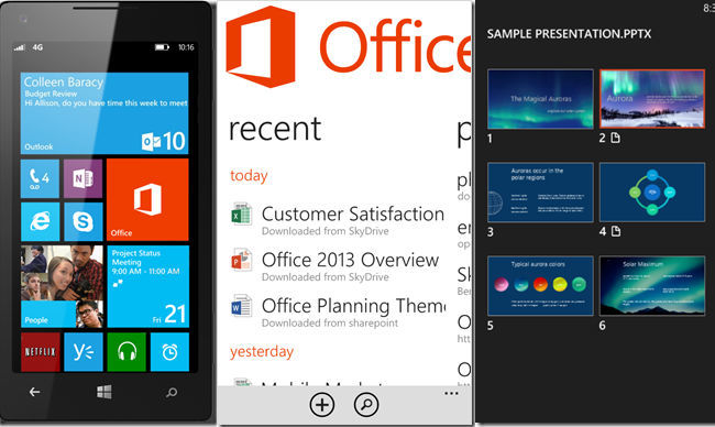 Un vistazo a las características de Office en Windows Phone 8