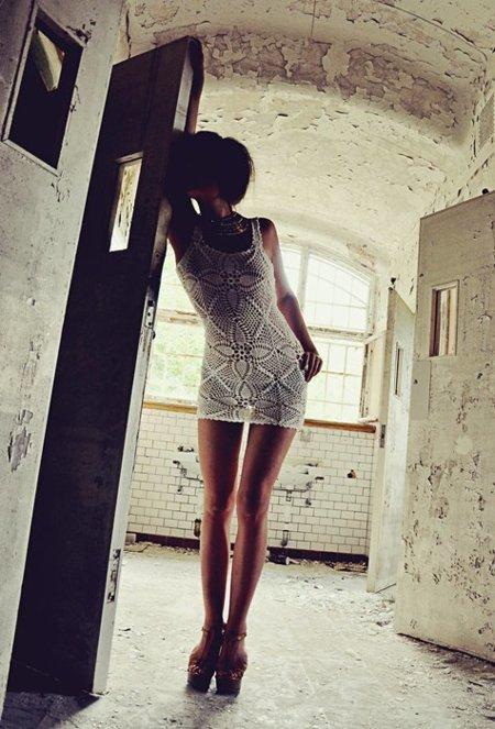 Vestido corto crochet