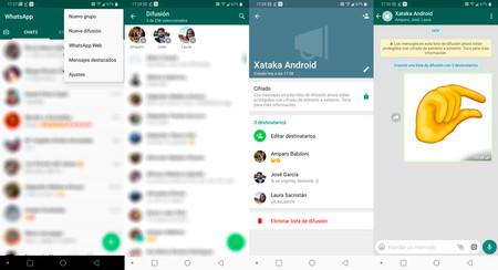 Cómo crear una lista de difusión en WhatsApp