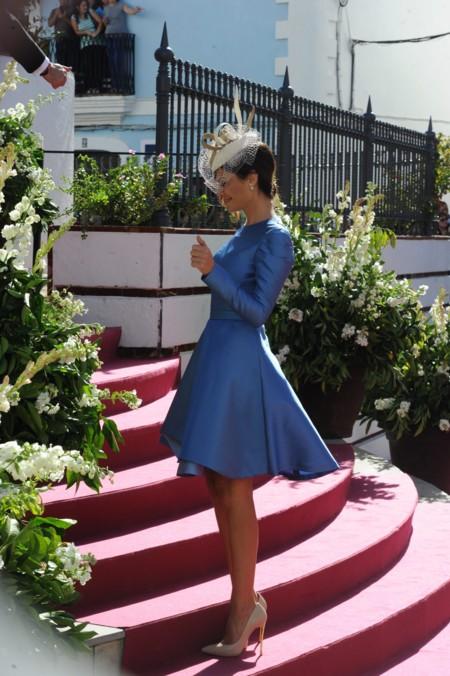 La boda de Eva González, el mejor escaparate para los vestidos de fiesta de María José Suárez