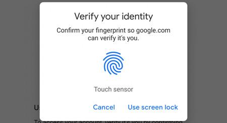 Ya puedes iniciar sesión en algunos sitios web de Google en Android solo con tu huella dactilar