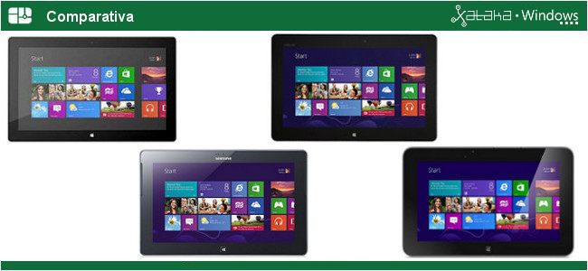 Comparativa tablets con Windows RT