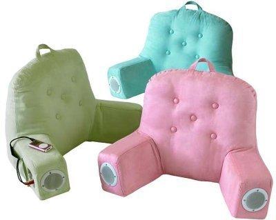 Almohada con altavoces y soporte para iPod