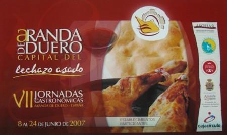 VII Jornadas Gastronómicas del lechazo de Aranda de Duero