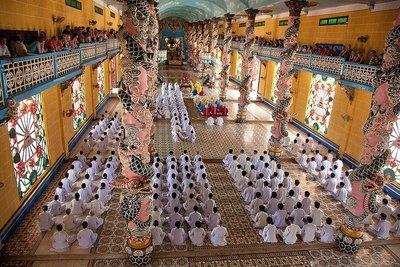 El Templo Cao Đài de Tay Ninh, en Vietnam