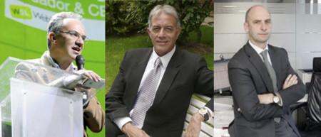 Julio Alonso, Carlos Salas y Rodrigo Ponce