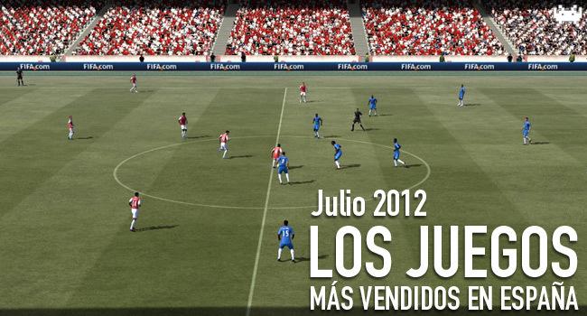Los juegos más vendidos en España - Julio 2012