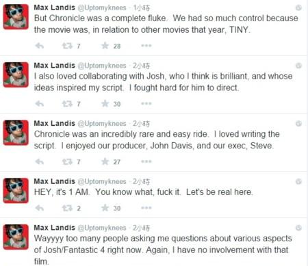 Max Landis tweets