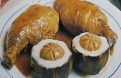 Jamoncitos de pollo con berenjenas