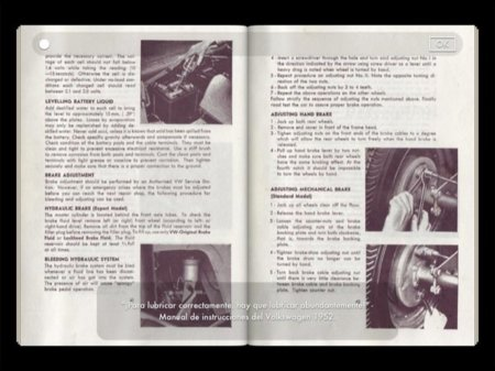 Manual de instrucciones del VW Beetle