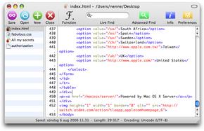 IDE gratuitos de programación en PHP y XHTML para Mac