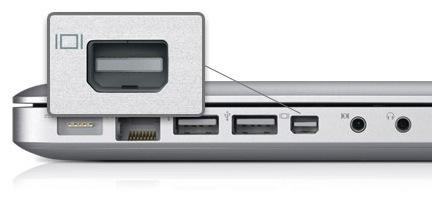 El conector Mini DisplayPort es aceptado como un estándar