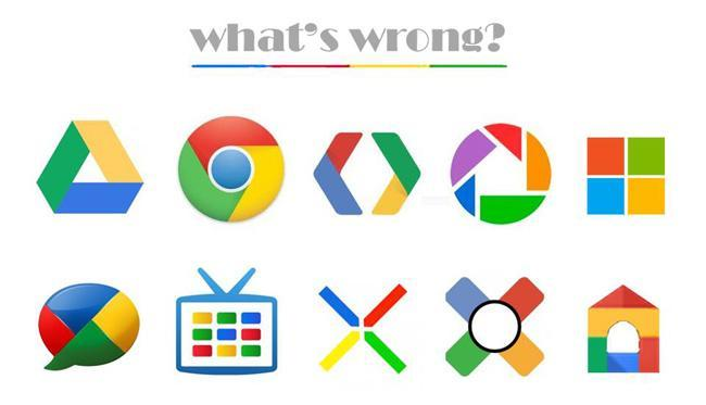 What is wrong? Nuevo logo de Microsoft vs Chrome