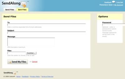 SendAlong, servicio de envío de grandes archivos por correo electrónico