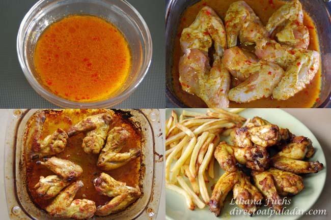 Alitas de pollo con aire marroquí. Pasos
