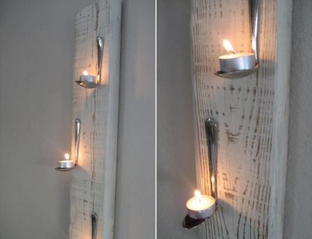 Hazlo tú mismo: un candelabro con madera y cucharas