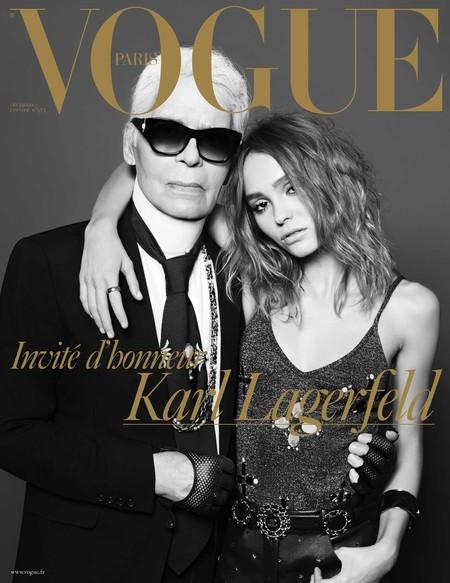 Karl Lagerfeld Covers Vogue Paris December 2017