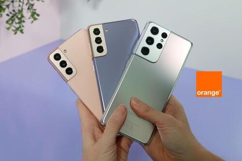 Precios Samsung Galaxy S21, S21+ y S21 Ultra con tarifas Orange