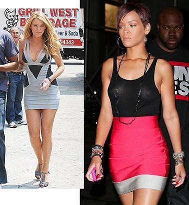 Vestido de Hervé Léger ¿Blake Lively o Rihanna?