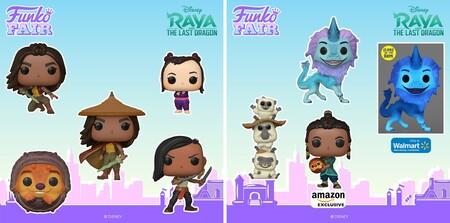 Figuras Funko POP de Raya El Último Dragon en preventa en Disney+