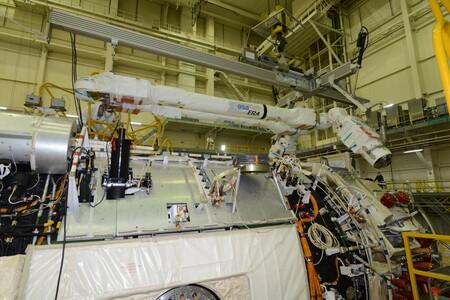Así es ERA, el avanzado brazo robótico europeo que se acoplará a la Estación Espacial Internacional en unos días