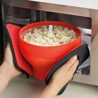 Práctico molde de silicón, para cocinar palomitas en el microondas