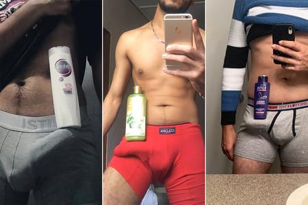 #ShampooChallenge: hay hombres compitiendo por ver quién aguanta un bote de champú con su pene