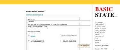 Basicstate, monitorizando nuestros sitios web y ser alertados en caso de problemas