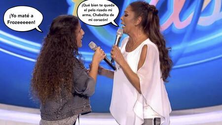 Isabel Pantoja se arranca a cantar con una Chabelita en 'Idol Kids' en riguroso playback, pero el dedo del botón verde no hay quien se lo arranque: 'Así fue' el momento