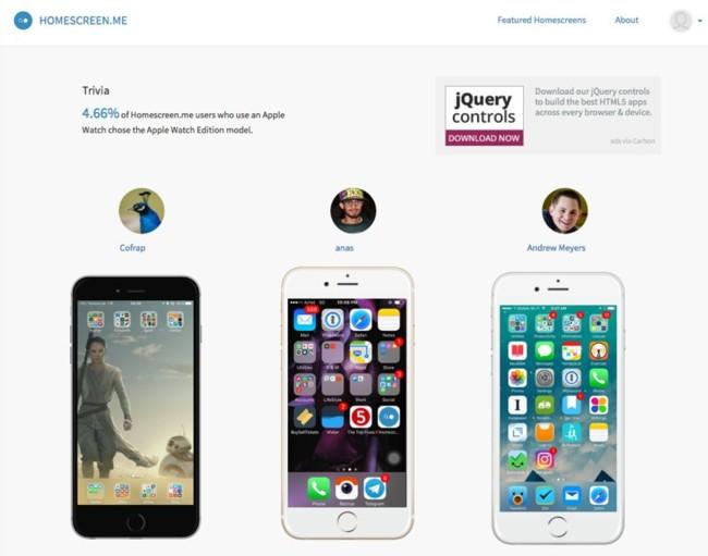 Homescreen.me, una web para descubrir qué apps usan otras personas en su iPhone