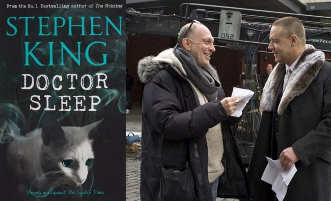 Akiva Goldsman con Russell Crowe en el rodaje de Cuento de Invierno