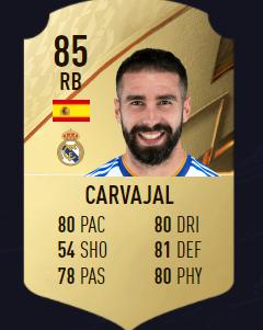 Carvajal FIFA 22 mejores defensas