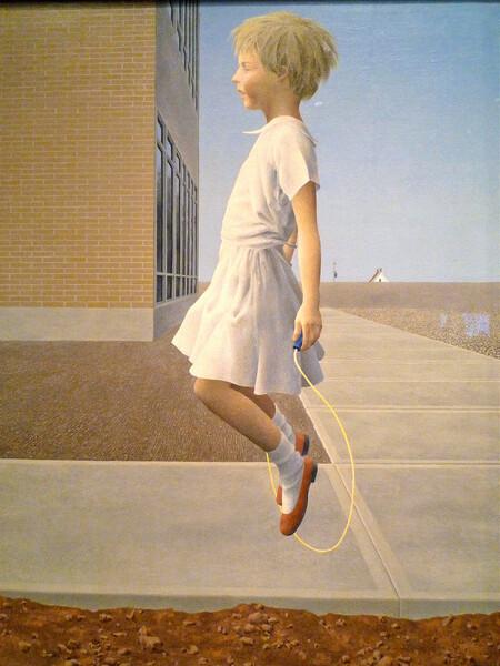 Child Skipping 1958