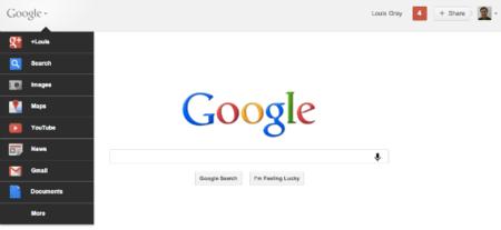 La nueva barra de Google en el buscador