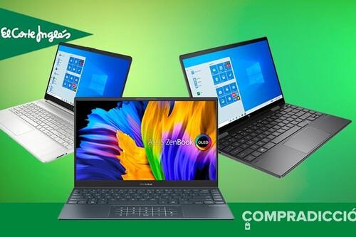 14 portátiles de trabajo de Apple, ASUS, HP o Lenovo con descuentos de hasta 150 euros en El Corte Inglés