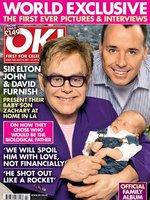 El bebé de Elton John  protagoniza la primera portada normal