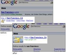 Google elimina los enlaces de los mapas de sus competidores en los resultados