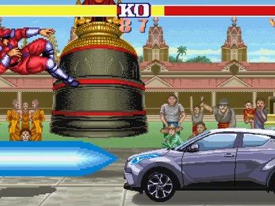 El nuevo  Toyota se une al resto de luchadores de Street Fighter II en su último spot
