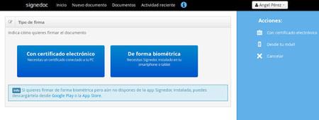 Signedoc Web Signature