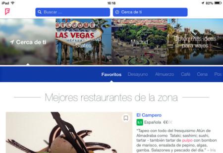 Foursquare aterriza en el iPad con las recomendaciones de los lugares más populares