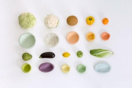 El cuenco que conserva la huella de una fruta o verdura