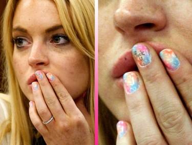 Lindsay Lohan y la manicura de la discordia