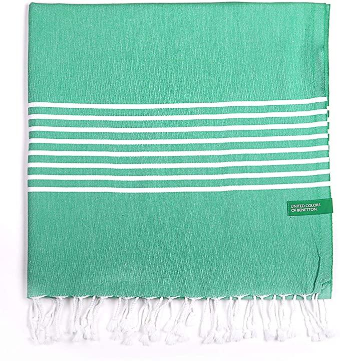 UNITED COLORS OF BENETTON, Hamman 80x165cm 170gsm 100% algodón verde Casa Benetton, 80x165