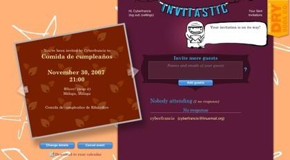 Invitastic, gestionando las invitaciones de nuestros eventos